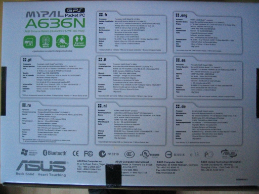 Asus Mypal A636N box (back)