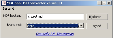 Picture of the MGET MDF to ISO convertor.