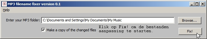 Start changing the MP3 files.